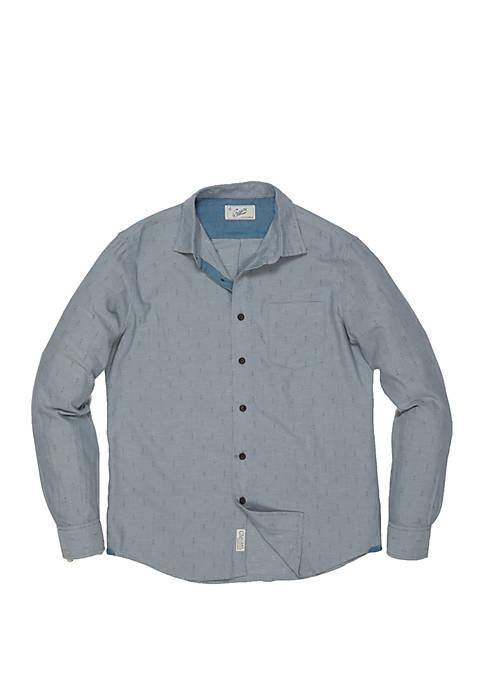 Grayers Long Sleeve Osborne Anchor Dobby Shirt