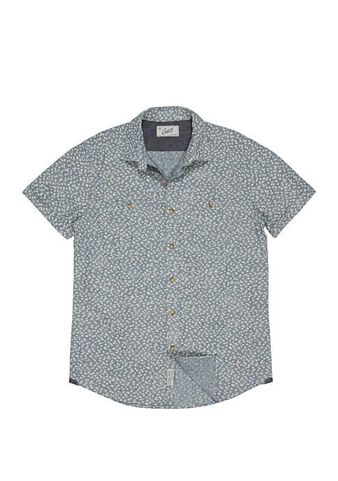 Grayers Short Sleeve Drayton Printed Chambray Shirt