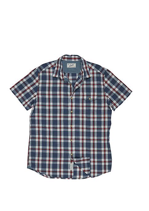 Grayers Short Sleeve Poplin Button Down Shirt