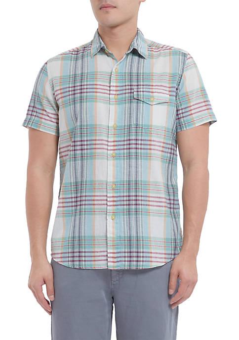 Grayers Short Sleeve Livngstones Classic Madras Shirt