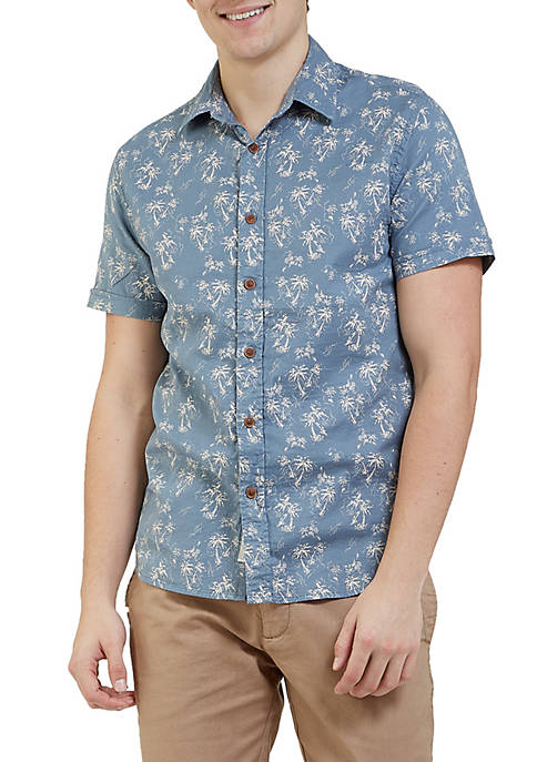 Grayers Palm Island Printed Double Cloth Short Sleeve