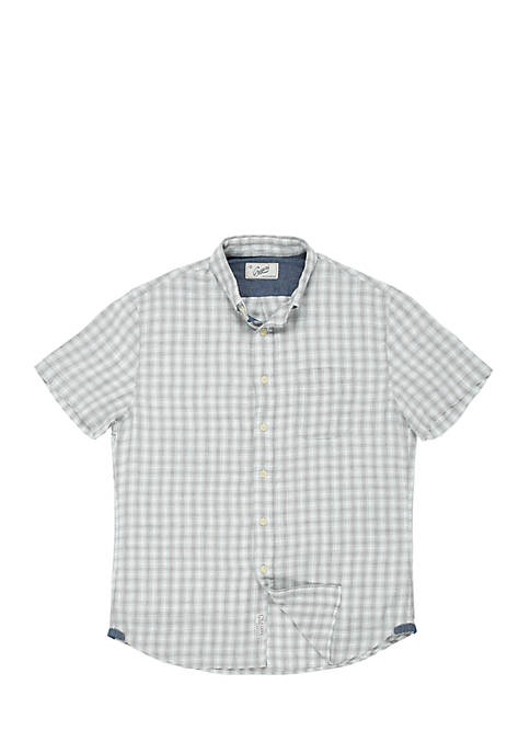 Grayers Grove Mini Check Heather Summer Twill Shirt