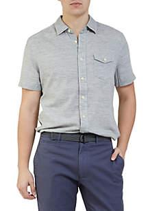 Heather Herringbone Twill Shirt