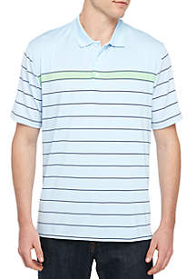 Crown & Ivy™ Motion Flex Performance Short Sleeve Stripe Polo