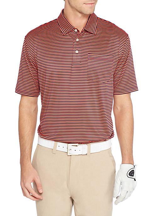 Crown & Ivy™ Golf Feeder Stripe Polo