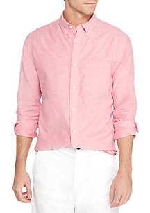 Motion Flex Solid Oxford Shirt