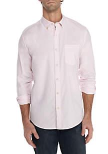 Motion Flex Solid Oxford Shirt