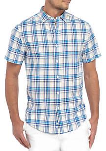 Short Sleeve Madras Shirt