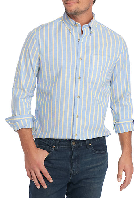 Crown & Ivy™ Long Sleeve Oxford Stripe Shirt