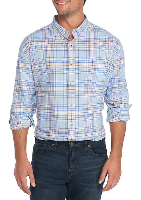 Crown & Ivy™ Long Sleeve Oxford Plaid Shirt