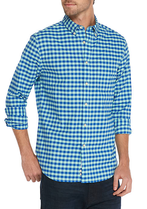 Crown & Ivy™ Long Sleeve Gingham Oxford Shirt