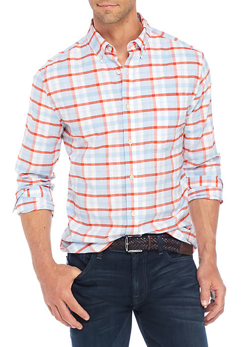 Crown & Ivy™ Long sleeve Plaid Button down