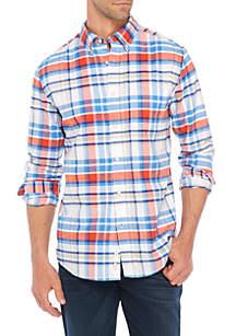 Long sleeve Plaid Button-Down Oxford shirt
