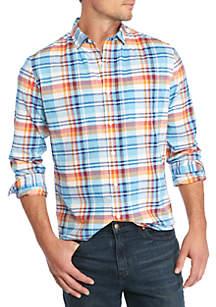 Long Sleeve Madras Shirt