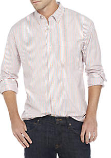 Long Sleeve Class Oxford Plaid Button Down Shirt
