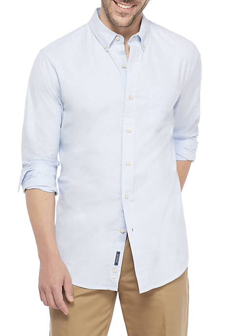 Oxford Solid Classic Fit Button Down Shirt