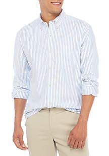 Classic Oxford Stripe Button Down Shirt