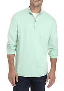 Long Sleeve Slub Quarter Zip Pullover