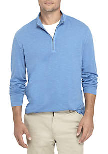 Long Sleeve Slub Quarter Zip Pullover