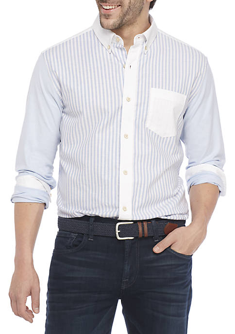 Crown & Ivy™ Oxford Colorblock Shirt