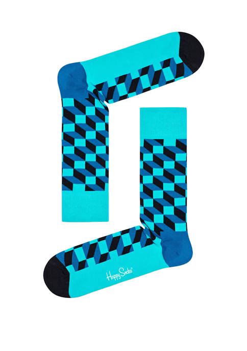 Happy Socks® Mens Filled Optic Crew Socks