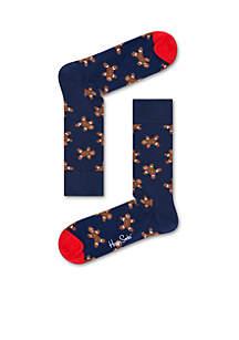 Christmas Gingerbread Man Socks