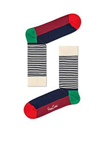 Christmas Half Stripe Socks