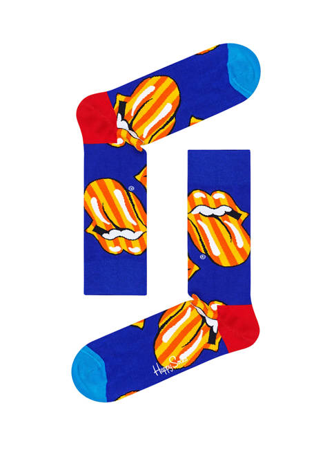 Happy Socks® Mens Rolling Stones Tumbling Stripe Crew