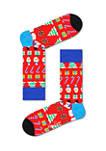 4 Pack Printed Socks