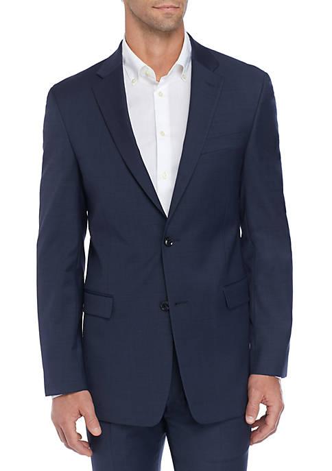 Sharkskin Stretch Classic Fit Suit Separate Coat