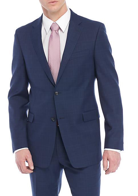 Plaid Stretch Suit Separate Coat