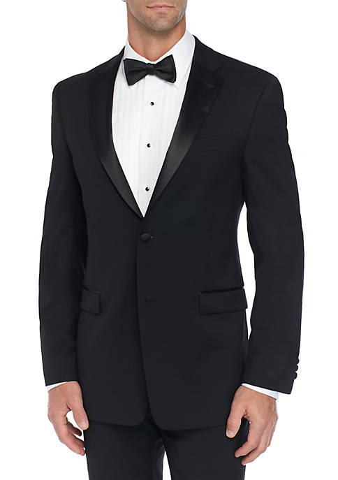 Slim-Fit Flex Stretch Black Tuxedo Jacket