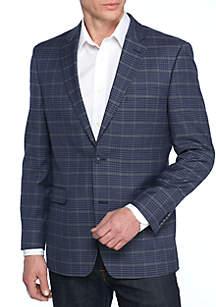 Blue Check Windowpane Sport Coat