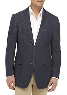 Navy Knit Sports Coat