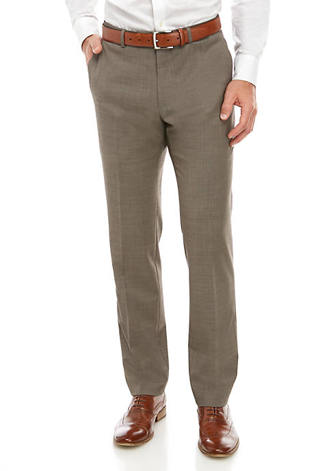 Sharkskin Stretch Classic Fit Suit Separate Pants