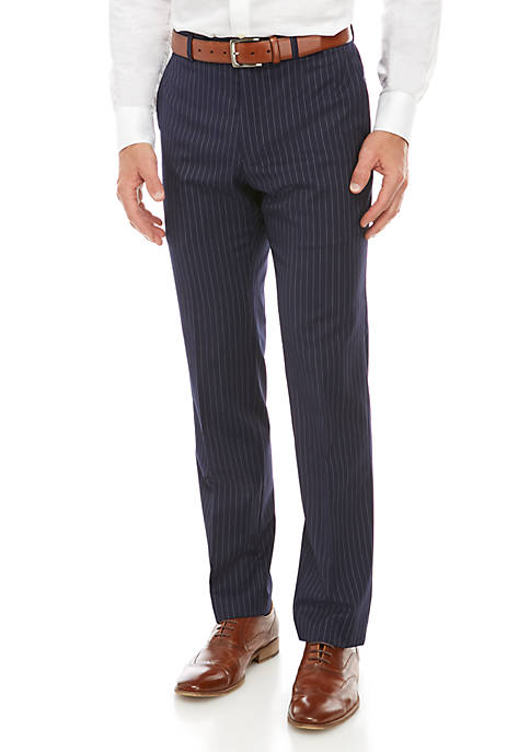 Pinstripe Stretch Classic Fit Suit Separate Pants
