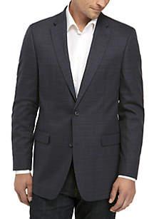 Blue Brown Plaid Sports Coat