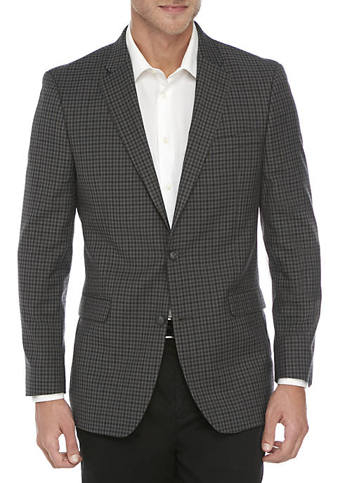 Gray Blue Check Sport Coat