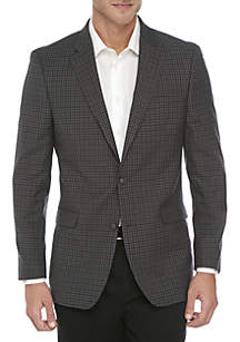 Gray Blue Check Sport Coat