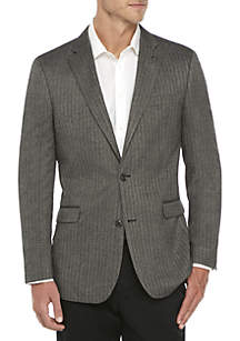 Black and White Herringbone Print Sport Coat