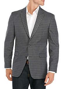 Tommy Hilfiger Gray Blue Check Sport Coat