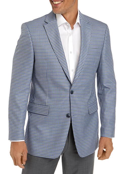 Tommy Hilfiger Blue Gray Gingham Check Sport Coat