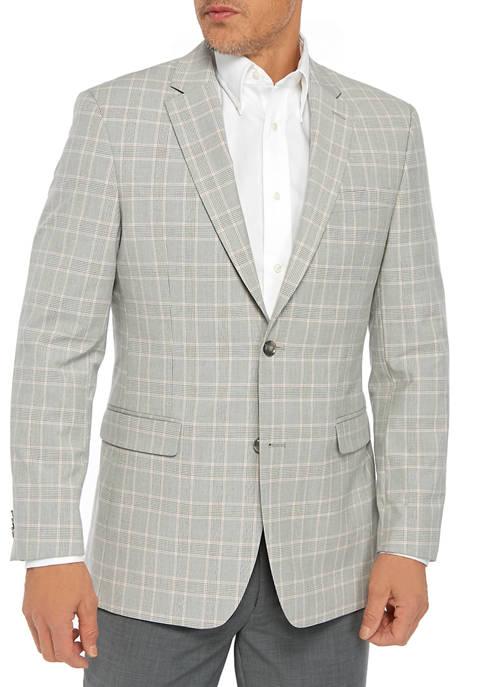 Gray Plaid Pink Sport Coat