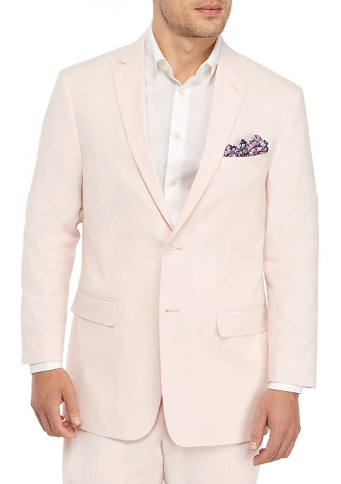Crown & Ivy™ Pink Linen Solid Jacket