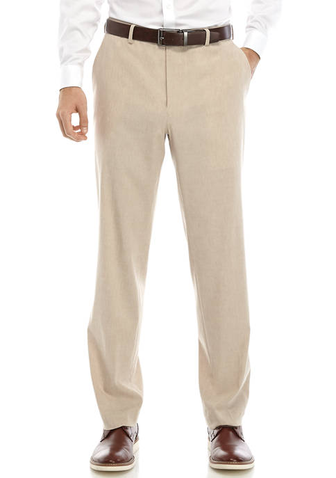 Crown & Ivy™ Mens Tan Linen Suit Pants