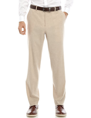 Sebaby Men Trim-Fit Wrinkle-Resistant Linen Stretch Casual Pant Trousers