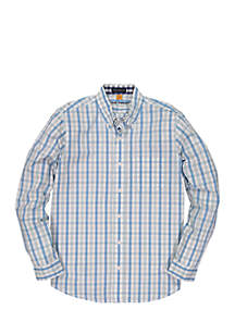 Tri-Color Gingham Performance Shirt