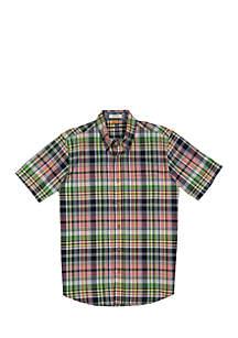 Short Sleeve Madras Woven Shirt