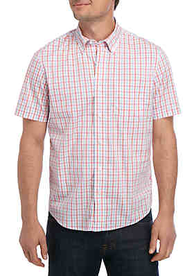 31c77c9b Tailor Vintage Short Sleeve Fast Dry Gingham Shirt ...