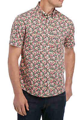 7225dc12 Tailor Vintage Short Sleeve Tropical Button Front Shirt ...